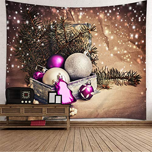 Dreamdge Tapiz Pared Macrame Ramas de Árboles de Navidad Y Decoración Navideña, Tapiz de Navidad 210x140