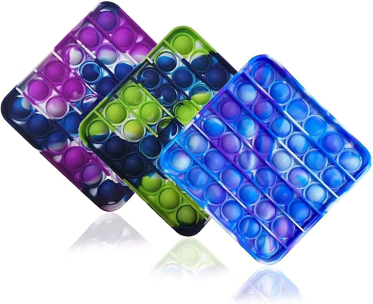 ZNNCO 3PCS Silicone Tie-dye online shop Push pop Bubble Autism Very popular Fidget S Toy