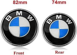 BMW Emblems Hood and Trunk, 82mm + 74mm BMW Logo Replacement for ALL Models BMW E46 E30 E36 E34 E38 E39 E60 E65 E90 325i 328i X3 X5 X6 1 3 5 6 7