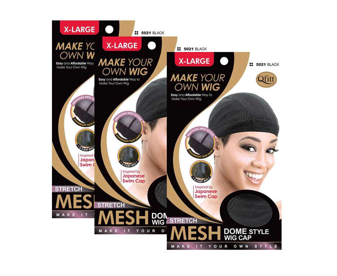 New product type Popular shop is the lowest price challenge 3 Pack Qfitt Mesh Dome Style #5021 Extra Wig Cap Large