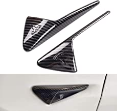 Turn Signal Cover for Tesla Model 3, S, X, Side Markers Indicator Cap Carbon Fiber Style ABS Plastic (A Set of 2)
