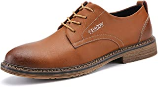 Sygjal Oxfords Fashion Vintage Tide Shoes Business Meeting Appointment for Men Formal Business Dress Shoes (Color : Gray, Size : 38 EU)