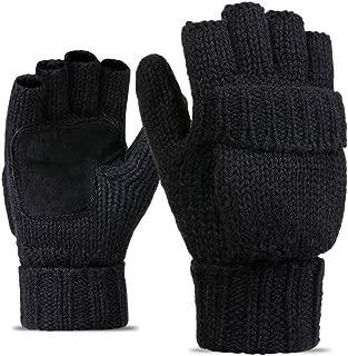 black suede mittens
