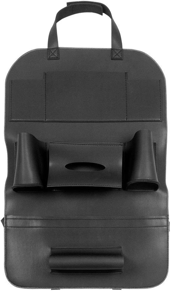 Black AutoFurnish 3D Car Auto Seat Back Multi Pocket Storage Bag Organizer Holder Hanger Accessory