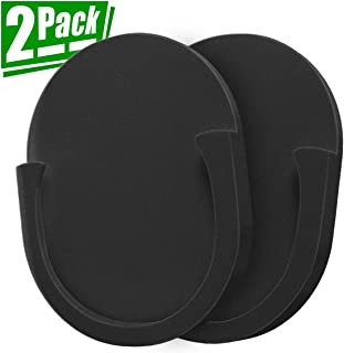 CC-Show Silicone Car Phone Mount for Collapsible Grip Stand, 2-Pack Tablets Holder for Socket Users with Adhesive Used on Car/Wall/Home/Desk/Mirror/Anywher (Black)