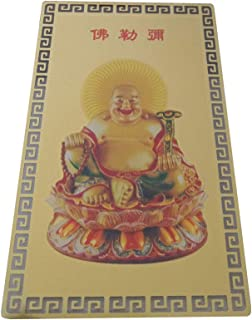 FengShuiGe Feng Shui Buddha Good Luck/Amulet Card For Protection - Laughing Buddha