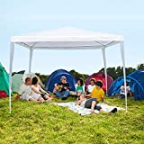 La fete 10' X 10' Outdoor Tent, Lightweight Canopy Tent, Portable Wedding Tent Patio Tent Garden Tent Carport Patio Gazebo BBQ Shelter, Heavy Duty Canopy Waterproof UV Protection Tent