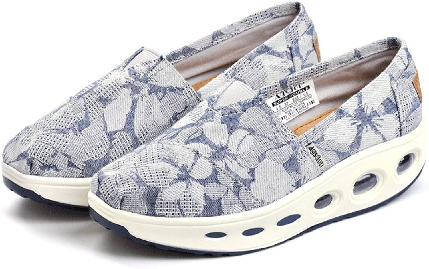 Breathable canvas shoes outdoor casual shoes old Beijing shoes shoes ladies shoes ( color   bluee , Size   35 )