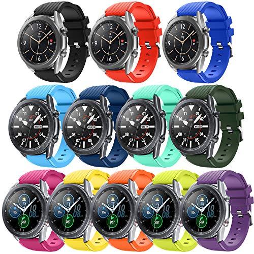 budesi 22mm Schnellspanner Smartwatch Band Handgelenk Gurt für Moto 36022nd Gen Mann (46mm)/Samsung Gear S3/LG G Watch W100, R W110, Urbane W150/Pebble Time Serie, S3-11pack-1