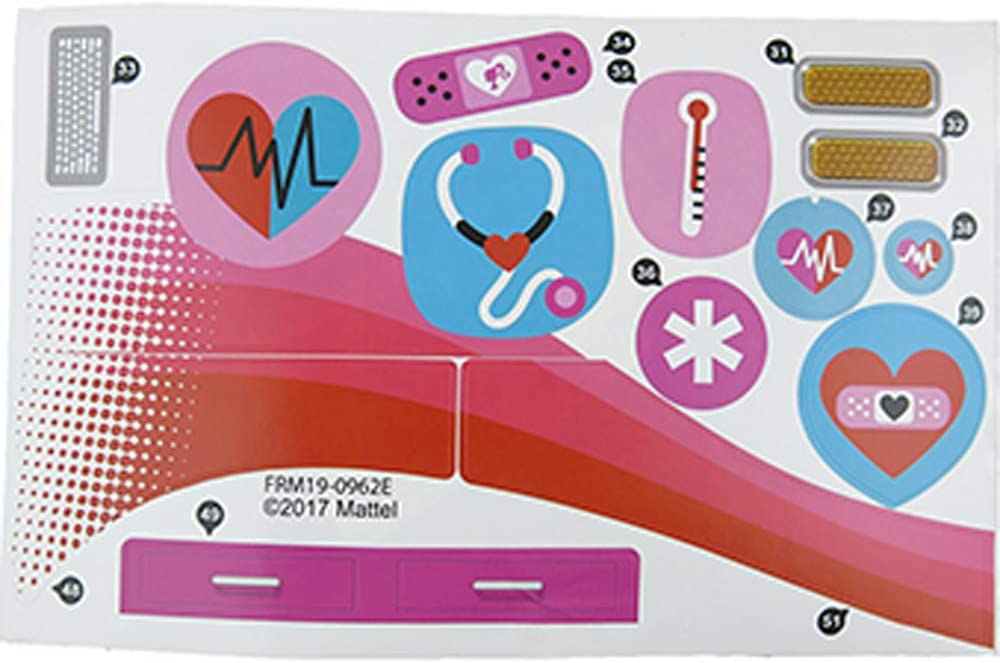 Replacement Stickers for All items in the store Barbie Care Max 60% OFF Doll ~ Clinic Playse