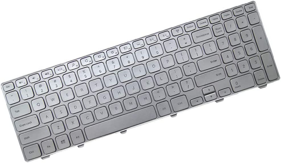 Laptop Keyboard for DELL Inspiron 15 7000 7537 7559 7560 7569 7572 7579 7566 7567 7577 US Edition Colour Silver 90.47L07.L01 SG-62010-XUA 9Z.NAULN