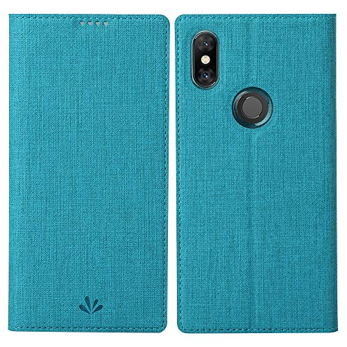 Eastcoo Xiaomi Mi Mix 3 Hülle, Xiaomi Mi Mix 3 PU Leder Folio Flip Hülle Dünn Premium klappbares Book TPU Cover Bumper Tasche Mit Standfunktion Magnetverschluss Kartenfach Wallet Handyhülle (Blue)