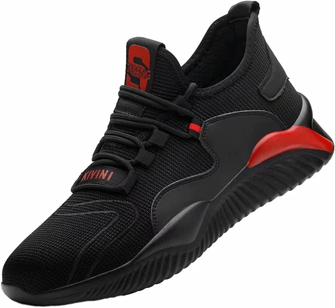 CENT-GYBG Steel Toe Shoes for Men Lightweight Safety Sneakers Fa