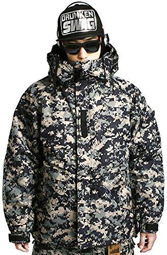 Southplay Mens South Play Waterproof Ski Snowboard Wear Jacket Jumper ACU Black