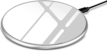 Littsped wireless charger,Qi-Certified Wireless Charging Compatible for iPhone 11/ 11 Pro/ 11 Pro Max/XR/Xs Max/ XS/X/ 8/ 8 Plus, Galaxy S9/S9+/S8/S8+/Note 8(grey)and more(sliver)