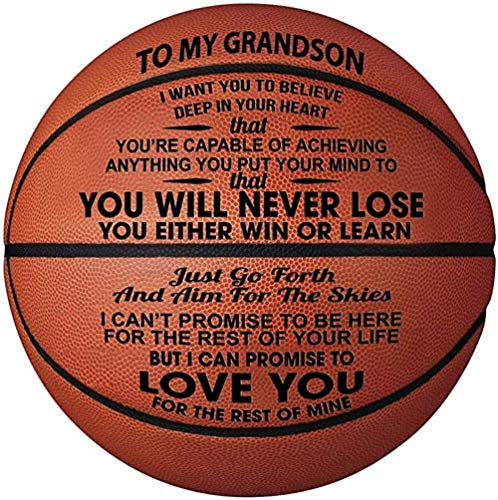 Buy Bargain Waful Engraved Basketball Gift - You Will Never Lose -Indoor/Outdoor Game Leather Basket...