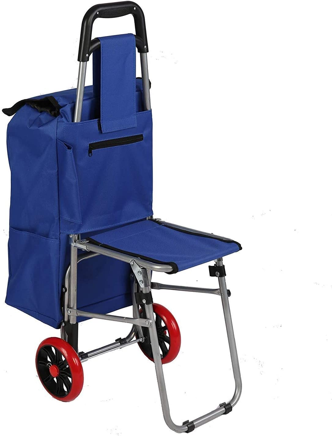 MYERZI Folding A surprise price is realized Shopper Luggage Cart Seat Collapsible With Outlet sale feature Grocer