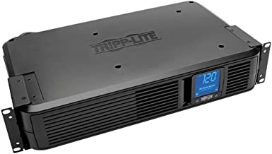 Tripp Lite SMART1500LCD 1500VA Smart UPS Battery Back Up, 900W Rack-Mount/Tower, LCD, AVR, USB, DB9, 3 Year Warranty & Dol...