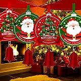 Further Weihnachtsparty-Dekoration, 3 m lange Wimpelkette, Banner, Anhänger, fallende Ornamente, Schneemann, Weihnachtsmann-Muster, hängende Flagge, edel