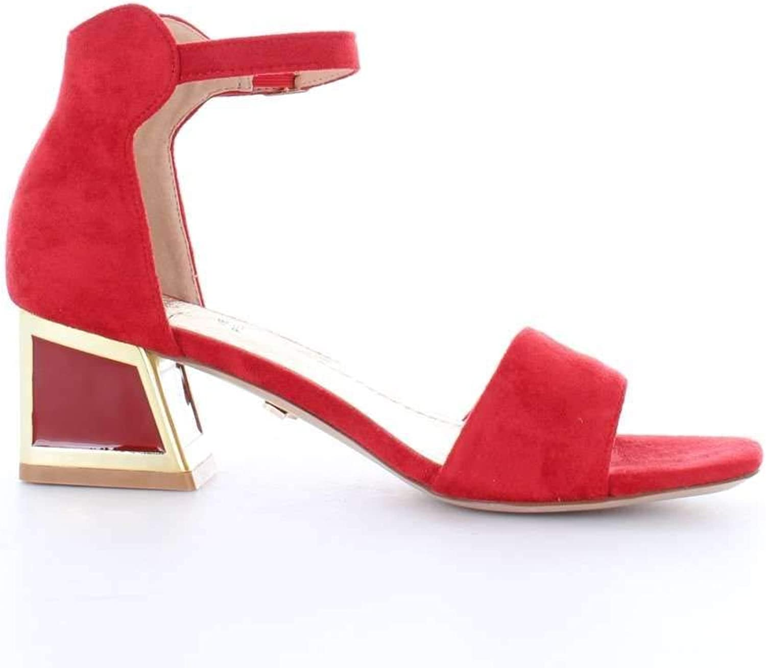 FRANCESCO MILANO Women's A031TRED Red Suede Sandals