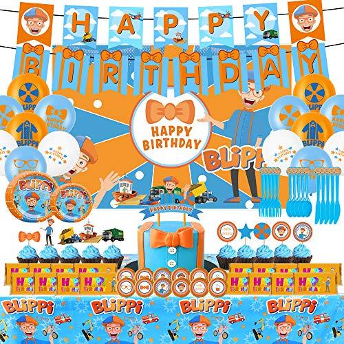 Blippi Birthday Party Supplies - MASSIVE 100+ piece kit!