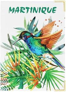 Color pop® Protège Passeport Martinique (Imprimé Colibri) - Fabrication française - en PVC - Accessoires de Voyage - 13,5 ...