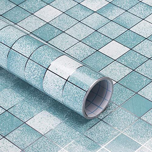 LICCC 5 Metros Etiqueta de Pared de PVC autoadhesiva Auto Adhesivo Fondo de Pantalla Cocina Mosaico Pegatinas de Azulejos Aparatos de Agua para la decoración de la Pared para el hogar (Color : 5C)