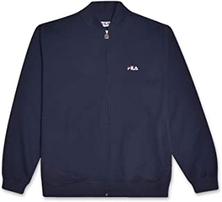 Fila Mens Big and Tall French Terry Zip Up Track Jacket