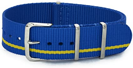 Cassis Type NATO Nylon Watch Strap with Stainless Steel Buckle 20mm with Tool #141.601M