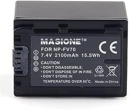 Masione NP-FV70 battery 7.4V 2100MAH, Replacement for SONY DCR-DVD, DCR-HC, DCR-SR, DCR-SX, HDR-CX, HDR-HC, HDR-SR, HDR-UX, HDR-XR Series Camcorder Battery
