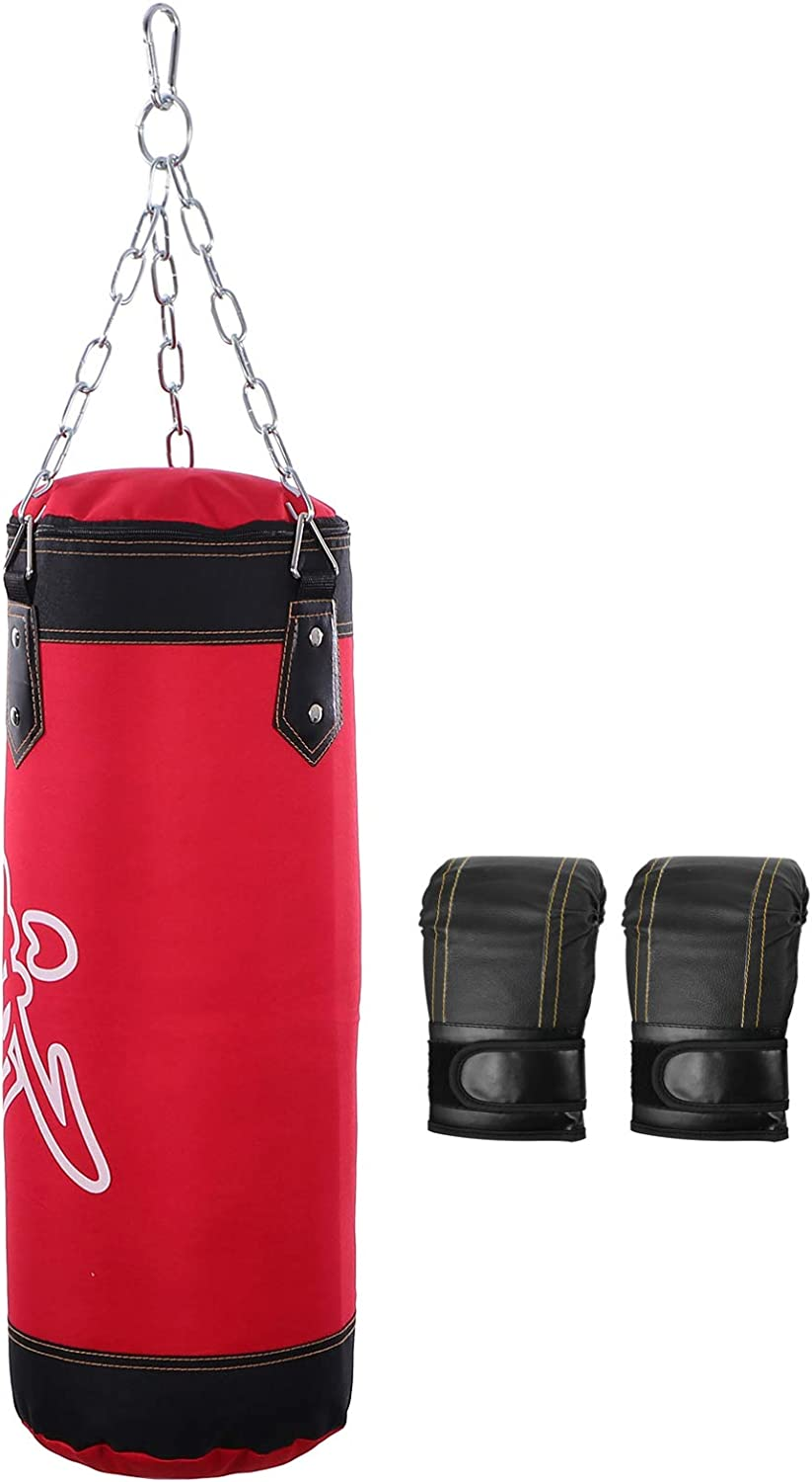 BESPORTBLE Hanging Punching unisex Bag with and El Paso Mall Boxing Kic Chain Gloves