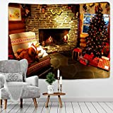 N/A Impresión 3D tapices Chimenea De Navidad Colgante De Pared Chimenea De Navidad Decoración Familiar Árbol De Navidad De Gran Tamaño Chinese Style Tapestry Chinese Dragon