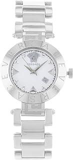 Versace XLQ99D001 S099, REVE XLQ, SS white dial SS band womens watch