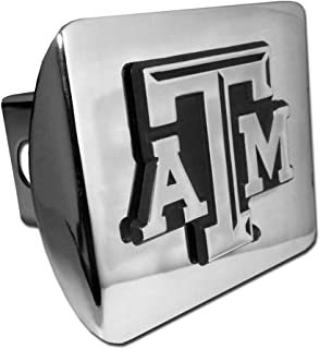 Texas A&M Aggies Chrome Metal Hitch Cover with Updated ATM
