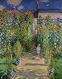 Cuadro Canvas Jardín de Monet de Oscar-Claude Monet - Calidad HQ...