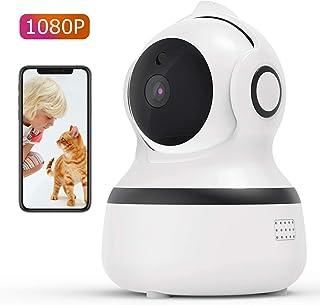 CACAGOO1080P Cámara IP WiFiCámara de Vigilancia FHD con Visión NocturnaDetección de MovimientoMonitor para Bebe/Perros Audio de 2 Vías 2.4GHz WiFi Compatible con iOS/Android