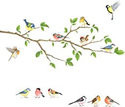 tree and bird wall stickers vinyl art decals