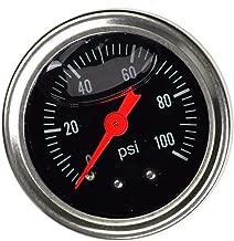 SUPERFASTRACING Black Universal Adjustable Fuel Pressure Regulator Gauge 0-100psi Liquid Chrome