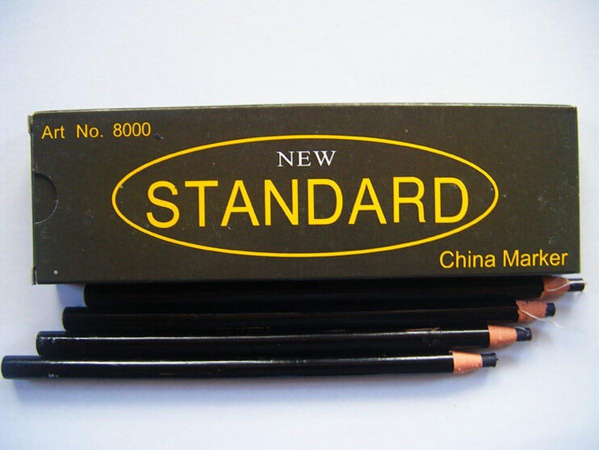 12 Attention brand PCS 1 Superlatite DOZEN - Peel-Off Pencil BLACK Markers Grease China