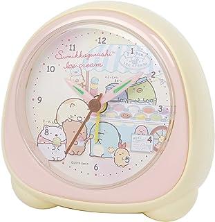 アリアス(ALIAS) 置き時計 ピンク 10.0cm×8.7cm×4.0cm すみっコぐらし 目覚まし時計 ライト付き
