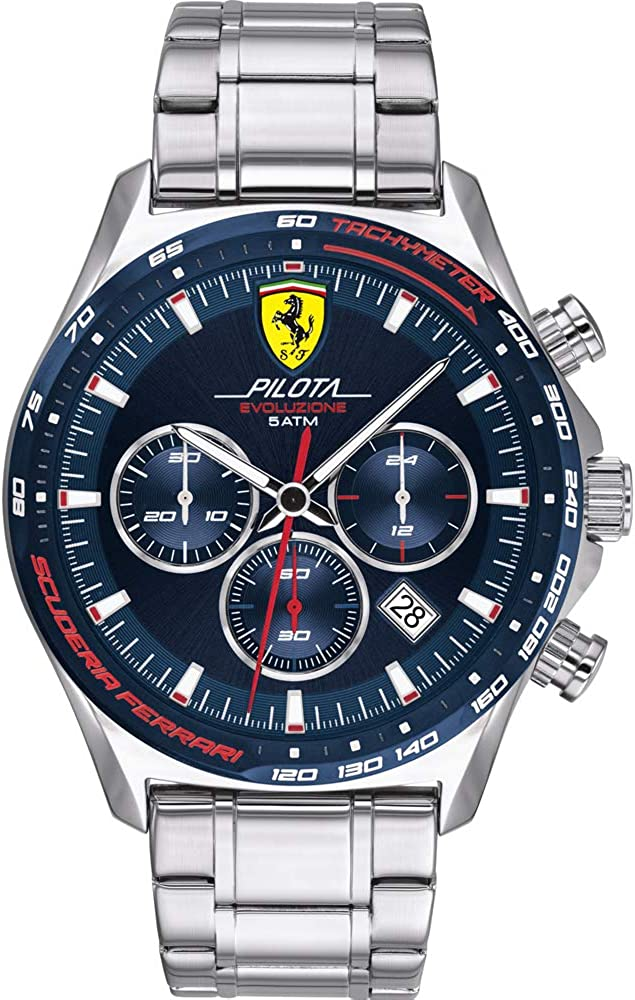 Scuderia Ferrari Reloj para de Cuarzo con Correa en Acero Inoxidable 830749