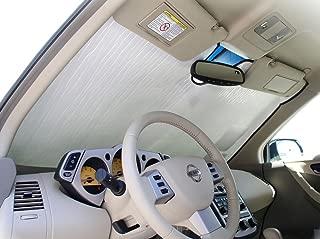 The Original Windshield Sun Shade, Custom-Fit for Nissan Murano SUV 2003, 2004, 2005, 2006, 2007, 2008, Silver Series