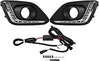 Car Daytime Running Light, One Pair LED Daytime Running Light DRL LED Daylight Fog Lamp Cover for Suzuki Swift 14-16