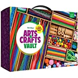 Arts and Crafts Vault - 1000+ Piece Craft Kit Library in a Box for Kids Ages 4 5 6 7 8 9 10 11 & 12 Year Old Girls & Boys - Crafting Supply Set Kits - Gift Ideas for Preschool Kids Project Activity