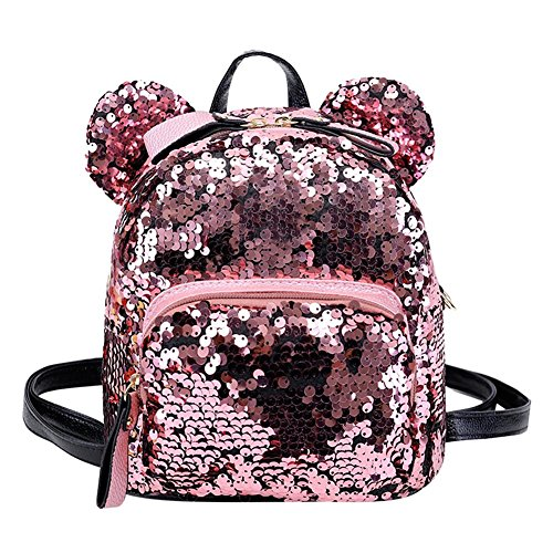 Fashion bag, Shining Women Paillettes Zaini Teenage Girls Party Mini School Bags/Rosa