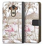 DeinDesign Étui Compatible avec LG G4 Étui Folio Étui magnétique Palmier Jungle Plage