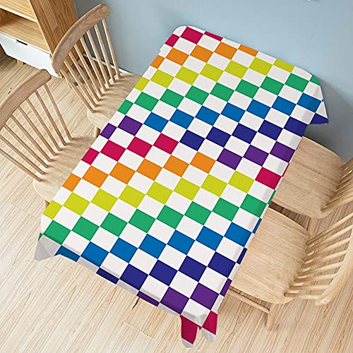 XXDD Mantel Rectangular con Estampado de arcoíris, Mantel de Fiesta a Prueba de Polvo y Anti escaldado, Cubierta de Mesa para decoración del hogar A5 140x180cm
