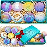 Bath Bombs Gift Set - 8 Luxury Vegan Bubble Fizzies For Women, Bath Bomb Kit - Relaxing Spa Gifts For Her - Unique Birthday & Beauty Products for Christmas - Bath Bombs For Girls