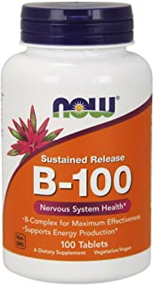 NOW Supplements, Vitamin B-100, Sustained Release, 100 Tablets