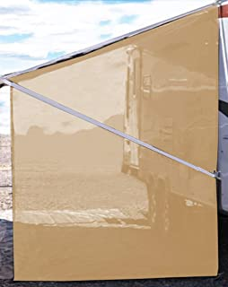 Tentproinc RV Awning Side Shade 9'X7' - Beige Mesh Screen Sunshade Complete Kits Camping Trailer Canopy UV Sun Blocker - 3 Years Limited Warranty